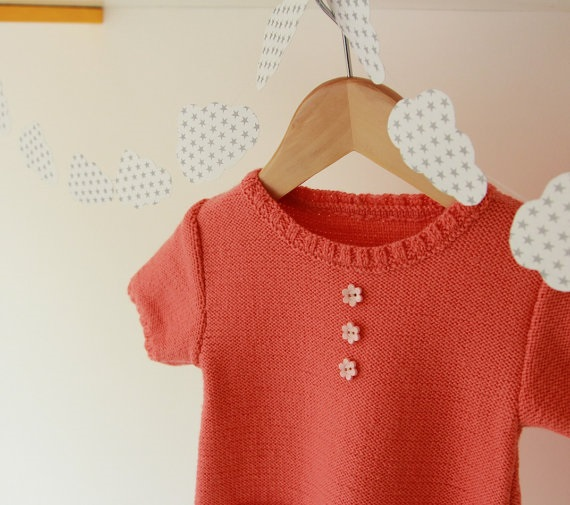 Hand knitted clothes for baby girl